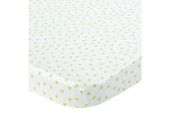 Knit Bassinet Sheet - Lime Dots