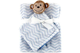 (One Size, Blue) - Hudson Baby Unisex Baby Plush Blanket with Security Blanket, Blue, One Size