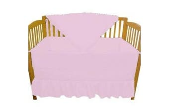 (Pink) - Solid Colour Portable Crib Bedding