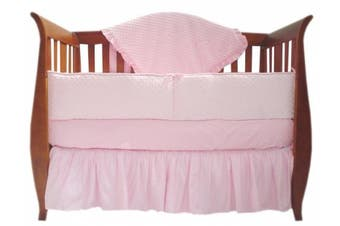 (Pink) - American Baby Company Heavenly Soft Minky Dot 4-Piece Crib Set