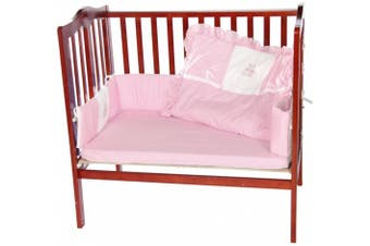 (Pink) - Baby Doll Bedding Gingham with Bear Applique Port-a-Crib Bedding Set