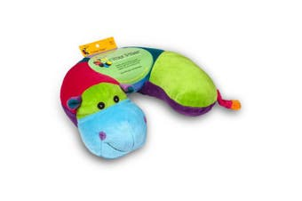 (Hippo) - Critter Piller Kids Travel Pillow
