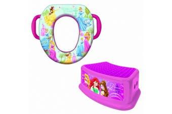 (Princess) - Disney Soft Potty and Step Stool Combo Set