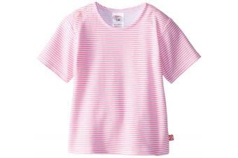 (12 Months, Hot Pink) - Zutano Baby-Girls Infant Candy Stripe T-Shirt