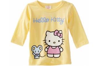 (0-3 Months, Lemon) - Hello Kitty Organics Baby-Girls Infant Infant Joey Long Sleeve Snap Tee