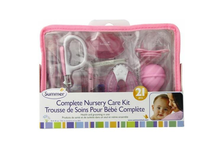 (one size, Pink/White) - Summer Infant Complete Nursery Care Kit, Pink/White