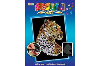 (leopard) - Sequin Art Blue, Leopard, Sparkling Arts and Crafts Picture Kit, Creative Crafts