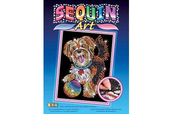 (dog) - Sequin Art Blue, Puppy, Sparkling Arts and Crafts Picture Kit, Creative Crafts
