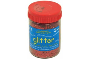 Red Art and Craft Glitter - 100g Tub