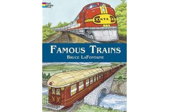 Famous Trains: Coloring Book (Dover History Coloring Book)