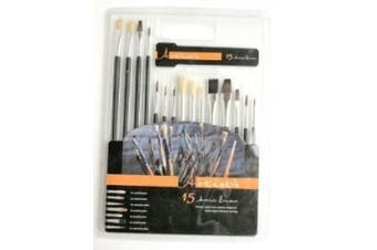 Artists 15 Assorted Brushes