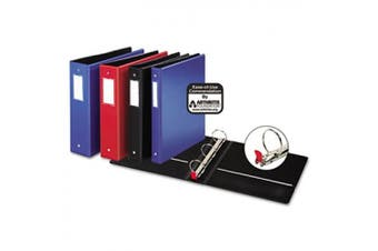 (5.1cm , Red) - Cardinal Premier Easy Open Locking Round Ring Binder, 5.1cm , Red with Label Holder (18838CB)