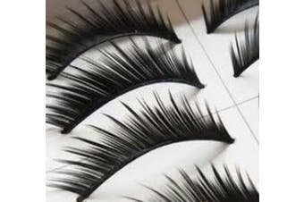 BOOCEO - 10 Pairs Black Long HANDMADE Voluminous False Eyelash Eye lashes