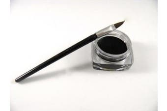 NEW Waterproof Black Eye Liner Eyeliner Shadow Gel Makeup Cosmetic + Brush by Boolavard® TM