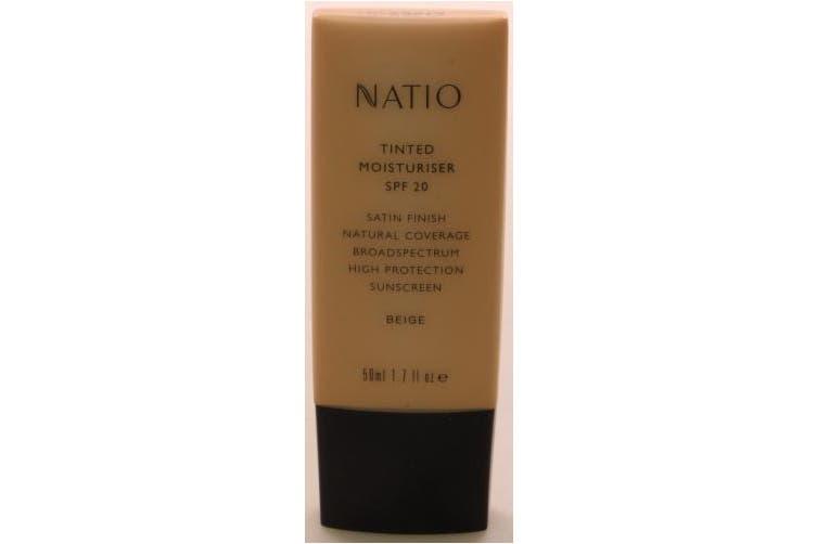 Natio Tinted Moisturiser SPF20 Beige 50ml
