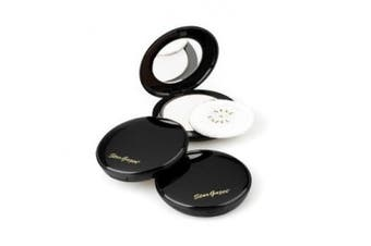 Pressed powder White, pressed powder full cover foundation including mirror and puff applicator