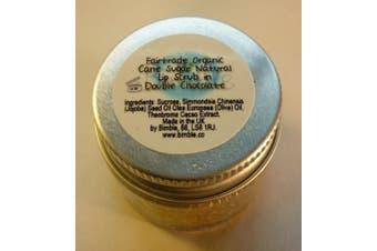 Bimble Organic Raw Cane Sugar Natural Lip Scrub 25g - Double Chocolate Flavour