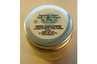 Bimble Organic Raw Cane Sugar Natural Lip Scrub 25g - Vanilla Fudge Flavour