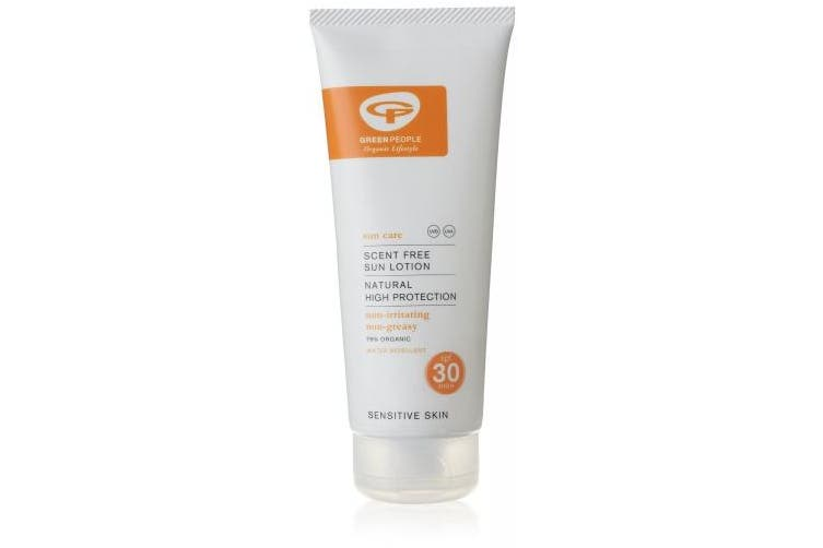 (200ml) - Green People Scent Free Sun Lotion SPF25