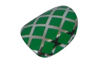 Chix Nails Nail Wraps Green Silver Fishnet Fingers Toes Vinyl Foils Minx Trendy Style
