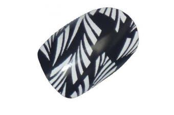 Chix Nails Nail Wraps Black White Laurel Designer Fingers Toes Vinyl Foils Minx Trendy Style