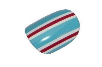 Chix Nails Nail Wraps Blue Burgundy White Stripes Fingers Toes Vinyl Foils Minx Trendy Style