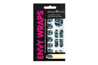 Elegant Touch Aqua Dragon Nail Envy Wraps