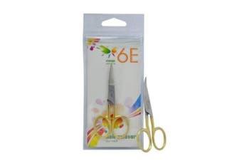 6E 8.9cm Half Gold Fix Screw, Curved Nail Scissors