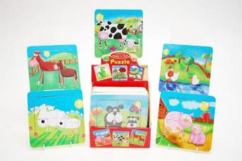 Childrens Wooden Farm Animal Puzzles, assorted designs x 1