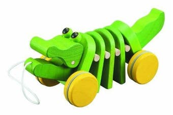 (1, Lime Green) - Dancing Alligator 25cm by Plan Toys