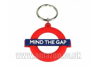London Underground Rubber Keyring, Mind the Gap Roundel, Transport for London Souvenir - 1236A