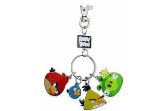 Commonwealth Toys Angry Birds Metal Keychain Style 1 Red Bird, Blue Bird, Yellow Bird King Pig