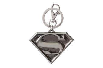 (Grey-light) - DC Superman Logo Pewter Keyring