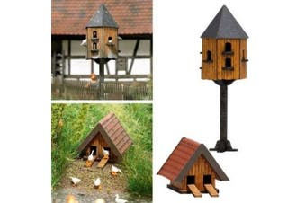 HO Scale Pigeon & Duck House
