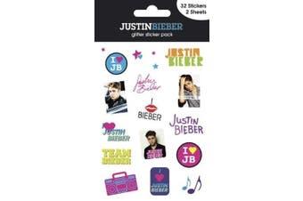 Official Justin Bieber Glitter Sticker Pack