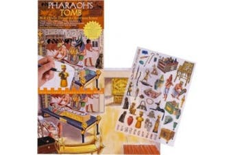 Pharaoh's Tomb - Rub Down Transfers Ancient Egyptian Scene by Buzz