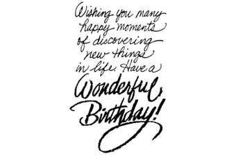 (birthdaywish) - Stampendous Cling Stamp
