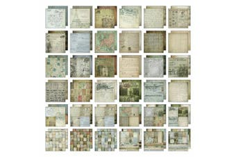 (12x12 French Industrial) - French Industrial Paper Stash by Tim Holtz Idea-ology, 36 Sheets, Double-Sided Cardstock, Various Sizes, Multicoloured, TH93052
