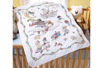 Bucilla Mary Engelbreit Mother Goose Crib Cover Stamped Cross Stitch, 90cm -by-110cm
