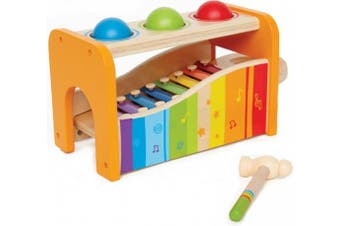(Yellow) - Hape - Pound & Tap Bench with Slide Out Xylophone