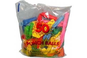 (50, Original Packaging) - 50 x PUNCH BALL BALLOONS CHILDREN'S FUN BALLOONS