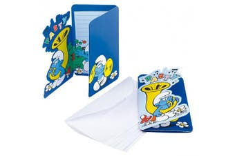 Amscan Smurf Classic 6 Card Invites