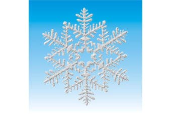 Silver Glitter Snowflakes Cutouts Christmas Decoration