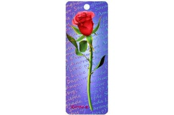 3D Bookmark - Red Rose - Cheatwell Games