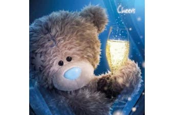 Tatty Teddy Holding Drink Me to you Bear Card
