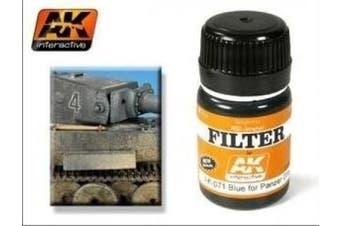 AK00071 AK Interactive - Blue for Panzer grey filter model making highlights