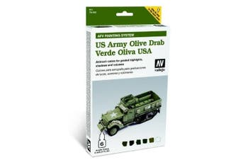 VAL78402 - Vallejo - AFV Army Olive Drab Armour Painting System