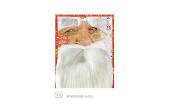 Santa Beard withTash And Eyebrows Disguise Novelty Fake False Moustaches Beards Sideburns etc for Fancy Dress Accessory