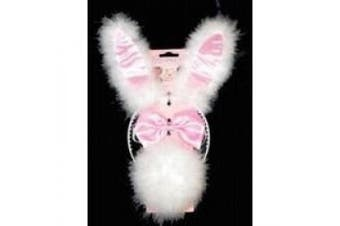 (All 1 Size, All 1 Size) - Hen Night Fluffy 3 Piece Bunny Ears Set.