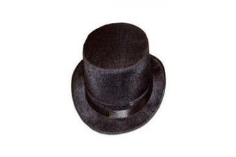 (One Size, Black) - H09580 Deluxe ADULT VELOUR TOP HAT VICTORIAN TOP HAT [Toy]